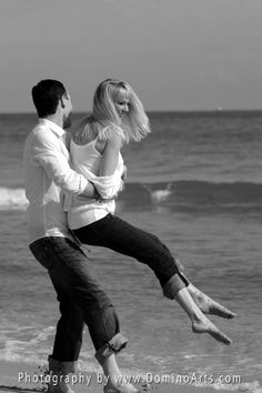 #Engagement #Photo #Session on the beach by #DominoArts #Photography (www.DominoArts.com)