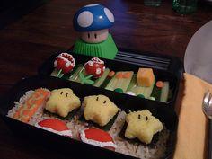 geeki thing, bento fun, bento box, geeki food, super mario, food inspir, mario bento, bento inspir, blues