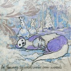Snow ball squeasel