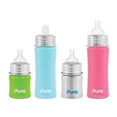 Pura Kiki stainless steel baby bottle . Safe and environmentally friendly. $18 CA
