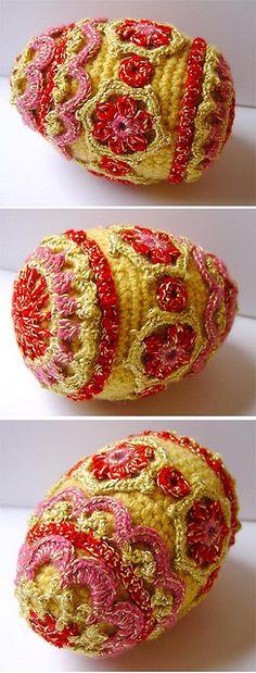 Crochet Faberge type egg by meekssandygirl, via Flickr