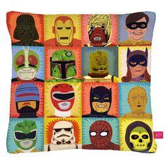Heroes And Villains Pillow Cover heroes, jack teagl, comic books, art, ohh deer, cushion, comics, villain, superhero