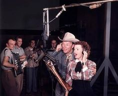Roy and Dale recording a song... :)