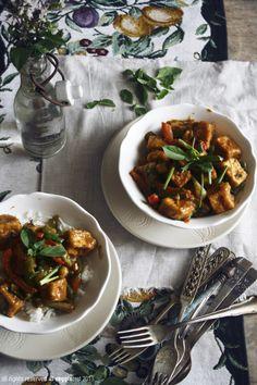 Tofu & Pepper Stir Fry in Mango Sauce