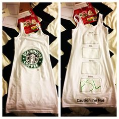 diy starbucks costume... in case i ever need a quick one :)
