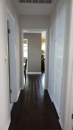 Love the wide dark wood floors! - TLS
