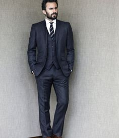 Three-piece suit;blue