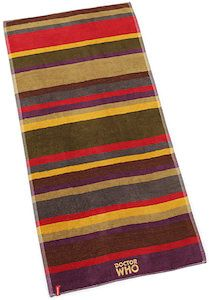 Doctor Who 4th Doctor Scarf Beach Towel