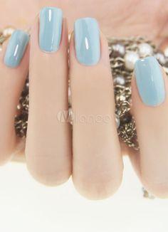 Greyish-Blue nails