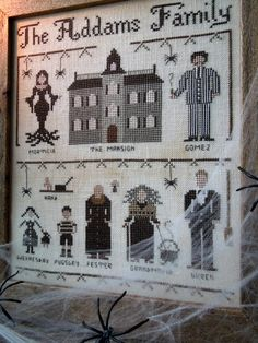 The Addams Family - PDF Cross Stitch Pattern by The Little Stitcher. So cute, but his name is THING!