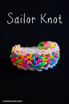 How to Make a Sailor Knot Bracelet - Rainbow Loom video tutorial