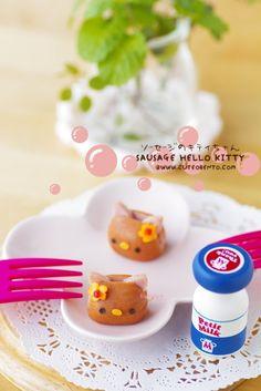 Bento Idea: Sausage Hello Kitty