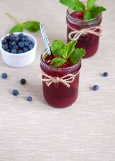 Blueberry Mint Iced Tea #inspiration