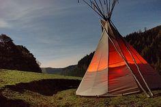 Eco Retreats, Mid-Wales -- Tipis & yurts in Wales.