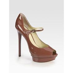 B Brian Atwood Ferrand Patent Leather Mary Jane Pumps