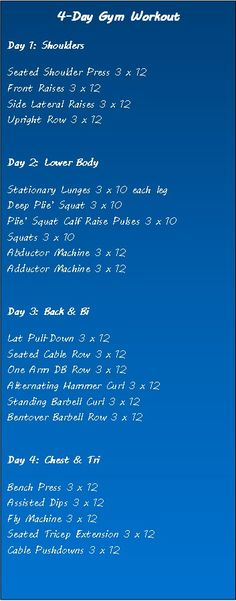 4-day Gym Workout..