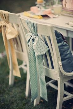 Decorated #chairs with simple #bow