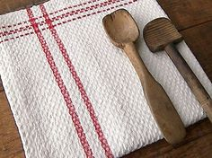 french tea, red stripe, tea towels, french linens, towel linen, kitchen towels, french decor, tradit french, linen kitchen