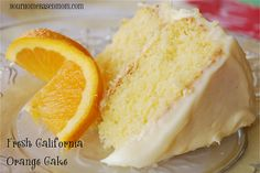 Fresh California Orange Cake - Finally.. an orange cake recipe from scratch! Tired of reading recipes that tell me to use a box cake mix.