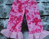 M Ruffled Fleece Longies Pants Extra Wetzone Protection by Lagamorphlounge on Etsy. $14.50