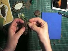 how to make a pine cone,...Christmas ornament or card decoration - very cute!