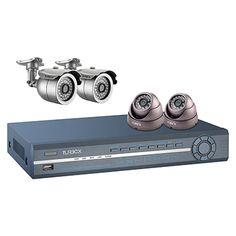 Turbo-X DVR Kit TXN-4122. Ιδανική λύση για την παρακολούθηση έως 4 χώρων στο σπίτι ή το γραφείο.