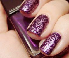 purple silver flowers