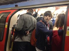 The tube was stuffed after the fireworks last night...we just barreled through!