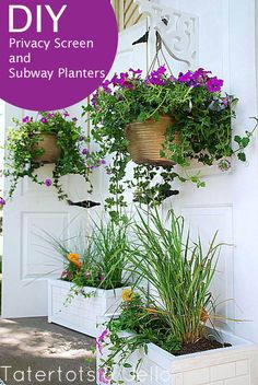 DIY Privacy Screen & planter boxes made with subway tile from Tatertots & Jello for @Lowe's #lowesCreator