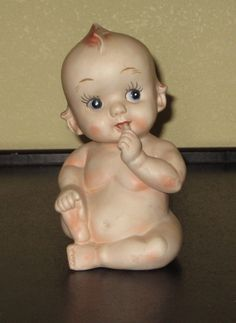 Vintage kewpie doll bisque Bank