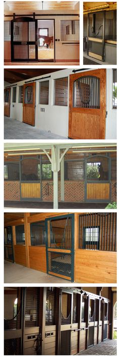 Horse stall ideas from Lucas Equine...built-in stall fronts.