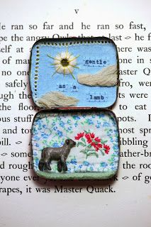Gentle as a lamb, vintage filled miniature story tin, by Little Burrow Designs
