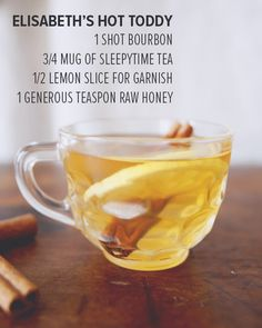 Hot Toddy Recipe - Drink Up, Buttercup - Ex Vitae
