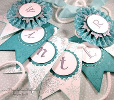 Happily Ever Crafter:  Winter Banner from Simply Created Christmas Banner Kit from Stampin' Up!