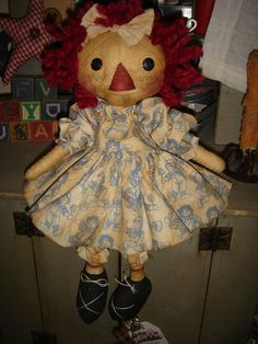 "10"" Raggedy Ann doll Sewing Pattern  by anniescupboards"