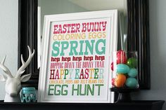holiday, subway art, season, egg hunt, word art, easter decor, easter printables, christma, easter subway