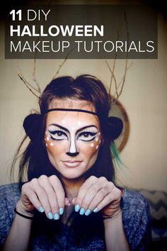 diy costumes, makeup tutorials, diy halloween, halloween costumes, 11 diy, halloween makeup, makeup ideas, costume makeup, halloween ideas