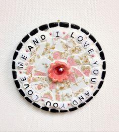 Linda Neubauer Pottery - Mosaic Tile - I Love You And You Love Me And...