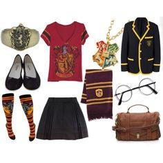 Harry Potter!!!!   I would do plain knee highs and oxfords or Mary janes!