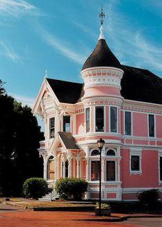 Pastel Pink Victorian Home