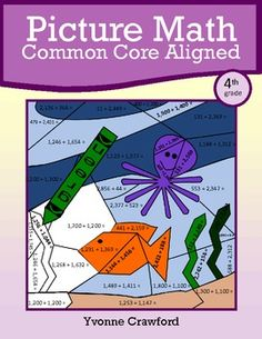 For 4th grade - Picture Math is a packet of twelve different worksheets where students can use their skills in mathematics to create a series of colorful pictures. $