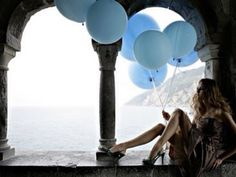 . blue balloon, fashion, ocean views, editorial, birthday balloons, architecture, baby blues, inspiration quotes, photographi