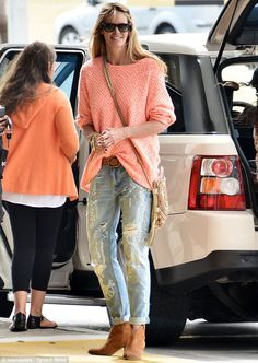 Elle MacPherson spotted in Barbados on April 9th, 2013.