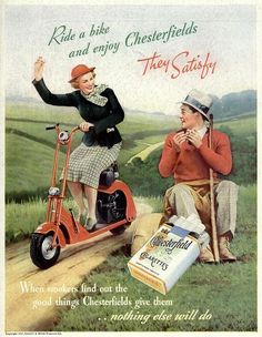 1937 Vintage Advert - Chesterfield Cigarettes