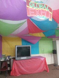 Vbs Colossal Coaster Decorations Global Expo Missions Room