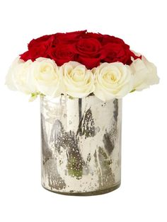 No-Fail Arrangement w/ Store-Bought Roses. http://www.hgtv.com/decorating-basics/hgtv-celebrity-flower-arrangements/pictures/page-8.html?soc=pinterest arrang idea, flower arrang, nofail arrang, centerpiec, white roses, flowers, storebought rose, garden, storebought flower