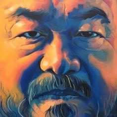 """Saatchi Online Artist Kos Cos; Painting, """"Ai Wei Wei"""" #art wei wei, ai wei, saatchi onlin, art face, onlin artist, portrait paint, design idea"""
