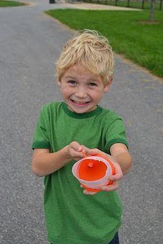 balloon on a yogurt cup, shoot a mini marshmallow or pom pom