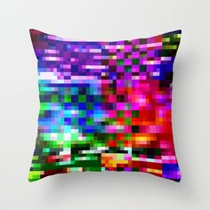 Glitch Art Pillow Covers