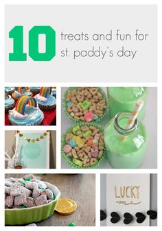 Round up of 10 fun treats, activities, and decor to celebrate St. Patrick's Day
